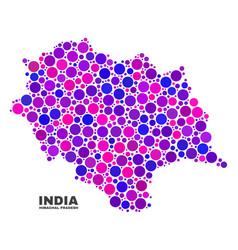 mosaic himachal pradesh state map of circle vector image