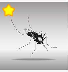mosquito black icon button logo symbol vector image