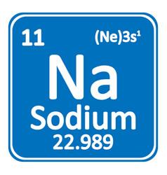 Periodic table element sodium icon vector