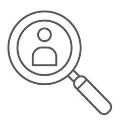 person search thin line icon recruitment and vector image