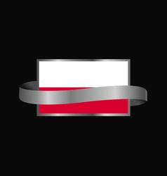 Poland flag ribbon banner design vector
