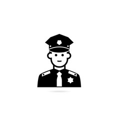 police officer avatar icon vector image