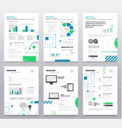 Presentation booklet cover - template a4 vector