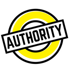 Print authority stamp on white vector