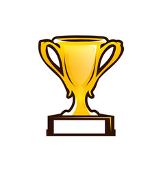 prize cup icon vector image