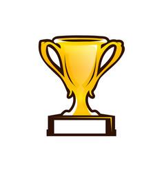 Prize cup icon vector