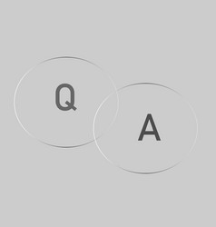 question answer icon on gray background question vector image