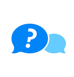 question mark in blue dialog bubble faq button vector image