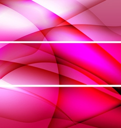 red banners abstract background vector image