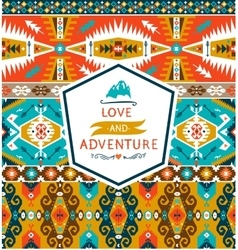 Seamless colorful decorative geometric pattern in vector image