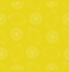 seamless pattern with lemon vector image