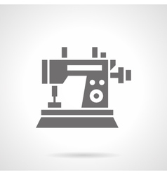 Sewing machine black glyph symbol icon vector image