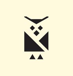 simple cute owl logo vector image