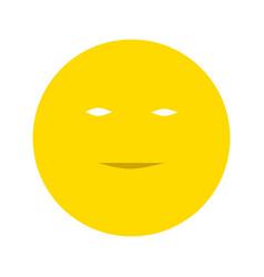 Smiley flat icon vector
