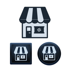 store icon set isolated vector image