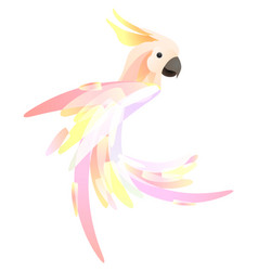 Stylized a parrot cockatoo with a vector