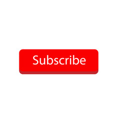 Subscribe button color with mouse pointer sign vector
