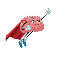 Super hero brain cartoon vector