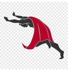 Superhero pushing something vector
