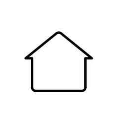 Thin line home house icon vector