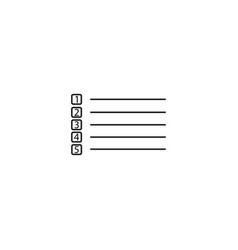 to do list icon simple of to do list icon for web vector image