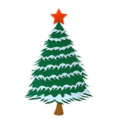 tree xmas isolated icon cartoon style for vector image