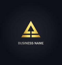 Triangle arrow up pyramid logo vector