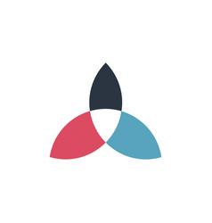 Trinity logo triquetra symbol three colored vector