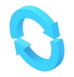 Two circular arrows icon cartoon style vector