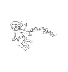 Valentines day symbol love amur or cupid vector