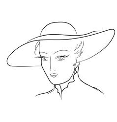 Vintage Woman Sketch vector