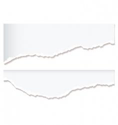 White paper rip edge vector