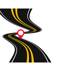 Winding curve road pathway location background vector