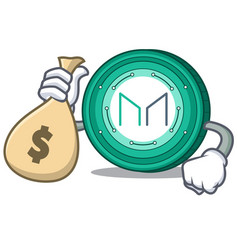 With money bag maker coin character cartoon vector