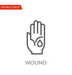 Wound icon vector