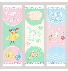 Banner Templates Happy Easter vector image vector image