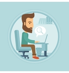 Businessman searching data in computer vector