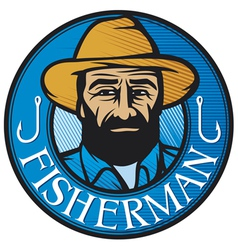 fisherman sign vector image vector image