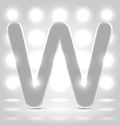 W over lighted background vector image vector image