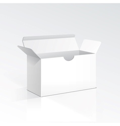 Blank open box vector