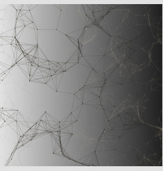 chemistry pattern connecting lines and dots vector image