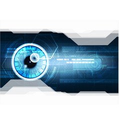 Technological eye scanning hud security vector
