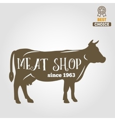 Vintage labels logo emblem templates of butchery vector image