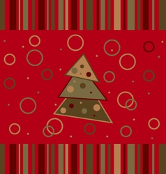 christmas striped card vector image