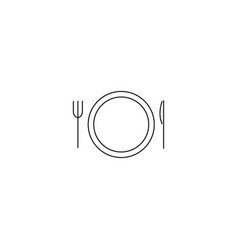 dinner line icon vector image