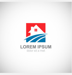 house realty business logo vector image vector image