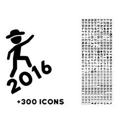 Human figure climbing 2016 icon vector