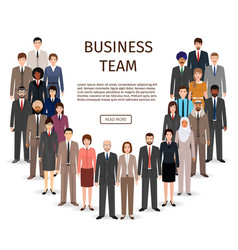 international business team group of office vector image