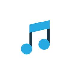music colorful icon symbol premium quality vector image