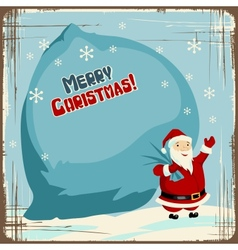 Retro santa claus background vector image